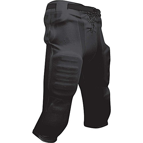 Champro FPY2BXS Youth Slotted Football Pant, Black Body, XS