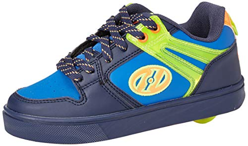 Heelys Jungen Motion 2.0 Sneaker, Navy Bright Yellow Orange, 34 EU