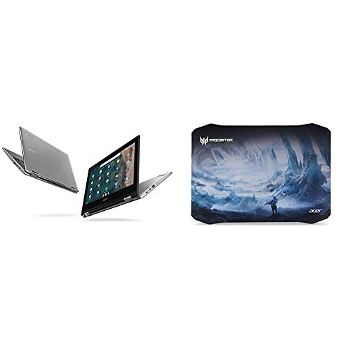 Acer Chromebook Spin 311 CP311-2H-C3KA Convertible Laptop with Acer Predator Ice Tunnel Mousepad