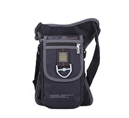 Kawei Knight Nylon Messenger Shoulder Leg Bag Fanny Pack Color Black, Medium