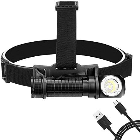 Yuxahiugtd Head lamp LED Flashlight USB Forehead Topics on TV Large special price Rechargeable Bu