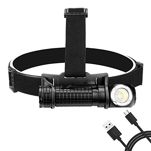 Faiol Antorcha de la Cabeza de Linterna LED de la Frente USB Recargable incorporada de la batería 18650 Faro Faro for Camping Caza