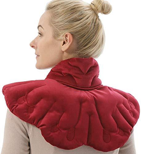 AROMA SEASON XXL, weiches und bequemes Kirschkernkissen/Körnerkissen/Wärmekissen/Nackenkissen gegen Schmerzen im Nacken, Schulter und Rücken für die Mikrowelle