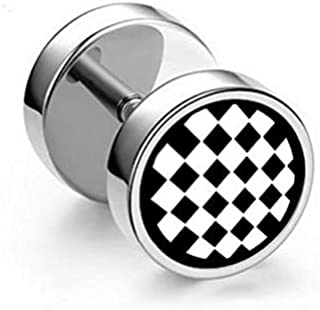 Men Funky Stainless Steel Earring Stud