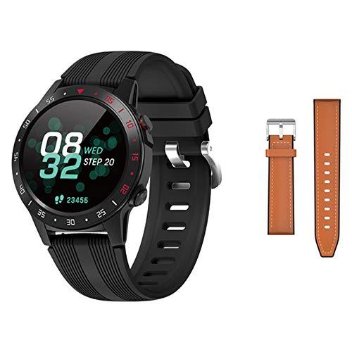 ZYDZ M5 Smart Watch, 1.3 Pulgadas IPS Toque Pantalla Completa Bluetooth Medidor de Llamada Altitud al Aire Libre Fitness Tracker Monitor de Ritmo cardíaco para Hombres y Mujeres para Android iOS,A