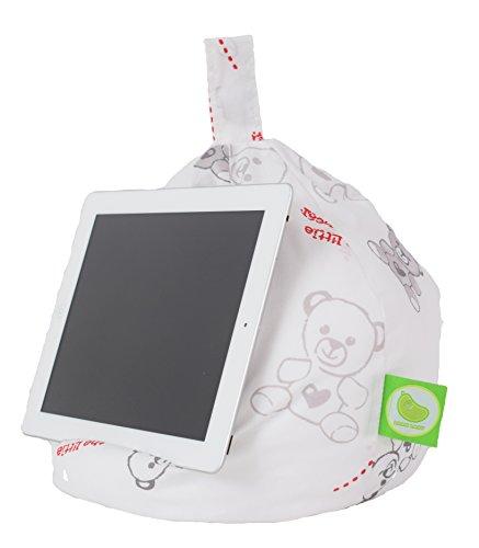 Bean Lazy - Puf para iPad, lector electrónico y libros (apto para todas las tabletas y lectores electrónicos), diseño de oso de peluche