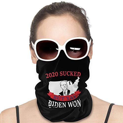 2020 Apestaba, Pero Yay Biden Ganó El Divertido Biden Harris Calentador De Cuello De Invierno,Bufanda De Tubo Multifuncional,Sombreros Sin Costuras,Paño De Manguera,Pañuelo Para La Cabeza