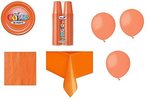 IRPot - Set nr. 26 handgemaakte tafel in oranje en oranje + 100 ballonnen in oranje