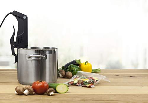 CASO SousVide Set Essen & Trinken - bestehend aus CASO GourmetVac 180 & CASO Sous Vide Garer SV300, Lebensmittel bis zu 8x länger frisch, wasserfester SousVide Stick - bis 90°C in 0.5 °C Schritten - 11