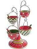 LRJKFS Soporte para bocadillos, soporte para servir aperitivos de Navidad (B)
