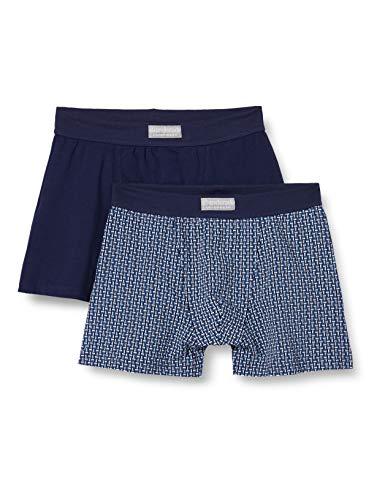 Abanderado Pack de 2 Boxer de algodón elástico Ocean, Azul (Azul OSC Cuadro 1KD), Medium (Tamaño del Fabricante:M/48) Hombre