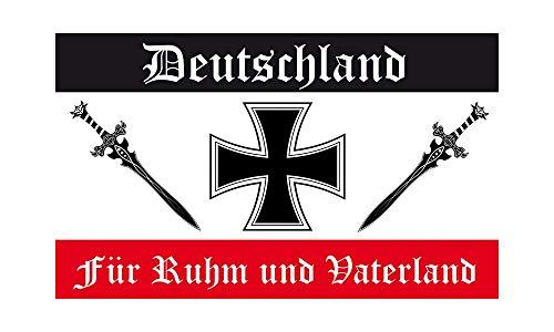 DH 42 - Deutschland Flagge - Für Ruhm und Vaterland Fahne 90 x 150cm