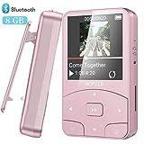 AGPTEK Reproductor MP3 Bluetooth Running, A58 HiFi Reproductor de Música 8GB con Podómetro,...