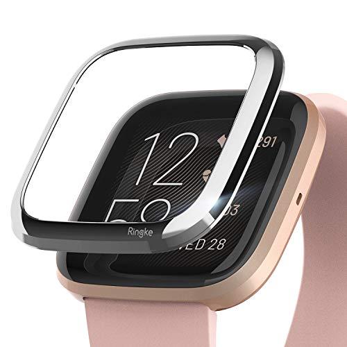 Ringke Bezel Styling Diseñado para Funda Fitbit Versa 2 Marco de Acero Inoxidable - 01 (ST) Silver