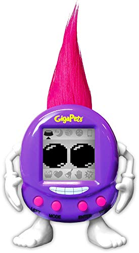 Giga Pets Trolls Virtual Pet Electronic Toy (Purple) | Keep Your Troll Happy! | Transformed Nostalgic 90s Toy, Listen to Your Troll Friend Talk Back! for Kids of… All Ages!