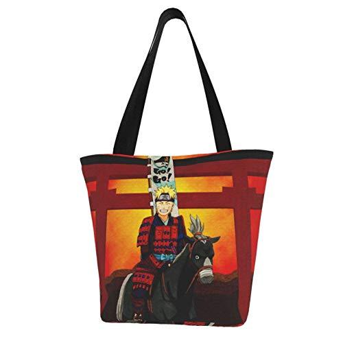 Anime Naruto Uzumaki Naruto Einkaufstasche, Segeltuch, groß, faltbar, multifunktional, wiederverwendbar, extra groß, langlebig, wasserdicht, mit Griff