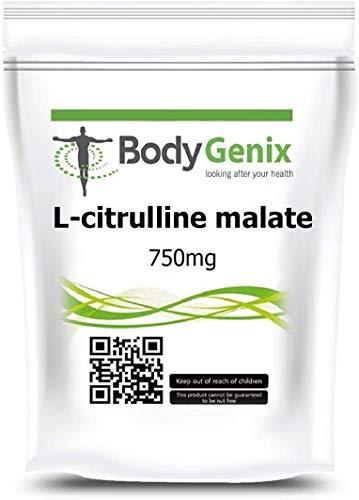 L-citrulline Malate 750mg Veggie Capsules Bodygenix UK Healthy Energy Booster (60)