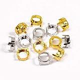 Diamantes de imitación redondos, engastado de plata, de aluminio, para costura, cristales, joyería, cuentas, pedestal, plata, 6mm 150pcs