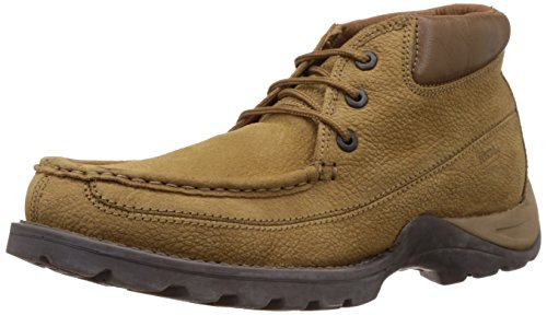 Woodland Men's Leather Camel Trecking and Hiking Boots