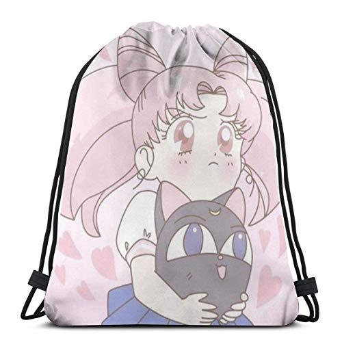 Bolso clásico con cordón - Lindo gimnasio mochila Bolsas de hombro deporte bolsa de almacenamiento para hombre mujer