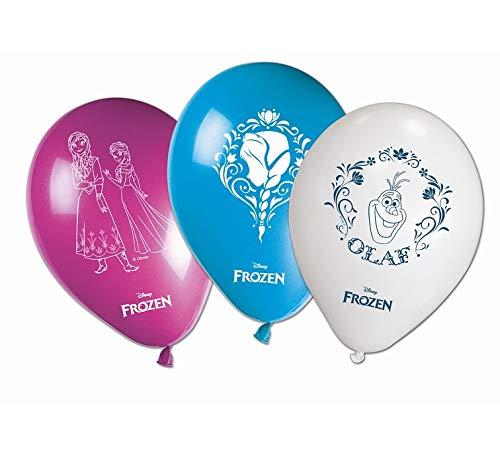 Lot de 8 ballons Frozen multicolores 26 cm