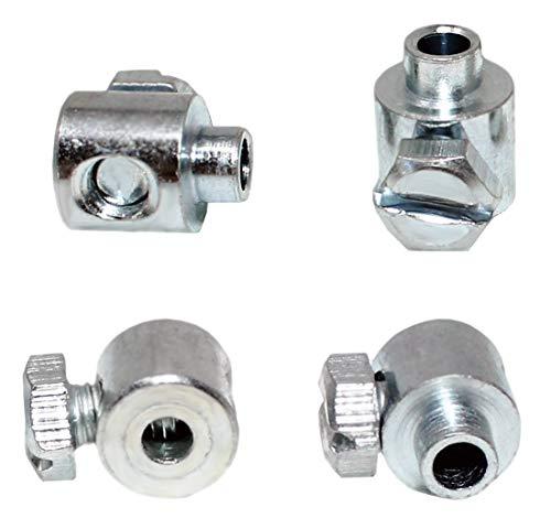 4 Stück Schraubnippel Winkel für Seilzüge Bowdenzüge Kabel etc. (4Stk. 7x6,5mm Bohrung 2,5mm)
