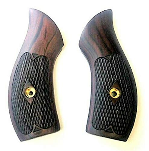 Premium Gun Grips Smith & Wesson Checkered Rosewood Low Profile J Frame Grips Round Butt