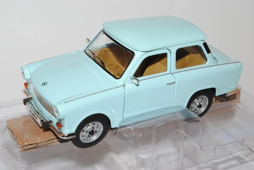 Trabant 601 S Deluxe Blau 1/24 Yatming Modell Auto