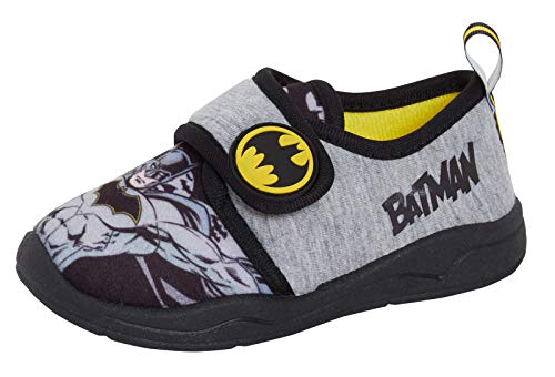 DC Comics Boys Batman Slippers Easy Fasten Slipper Boots Kids House Shoes...