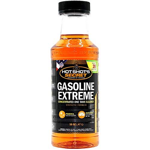 Hot Shot's Secret Gasoline Extreme - Concentrated Injector Cleaner - 16 OZ Bottle - Restores for 10K Miles
