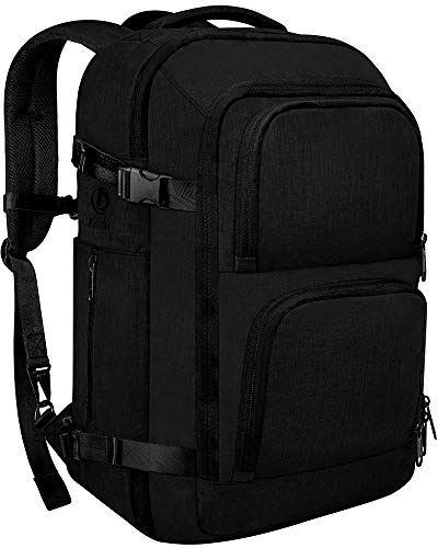 Dinictis 40L Flight Approved Carry on Travel Backpack, Weekender Bag - Black
