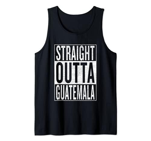 Straight Outta Guatemala Gran traje de viaje y idea de regalo Camiseta sin Mangas