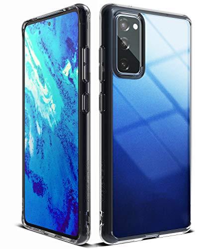 Ringke Fusion Diseñado para Funda Galaxy S20 FE (2020) Transparente Carcasa Galaxy S20 FE, Parachoque TPU Resistente Impactos Funda para Galaxy S20 FE (6.5 Pulgadas) - Smoke Black