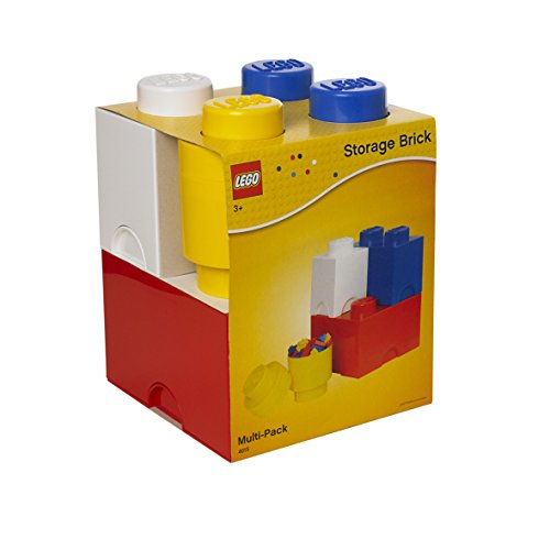 Room Copenhagen Mattoncino Lego Multipack L, contenitori impilabili, Set di 4 Pezzi, Multicolore, One Size