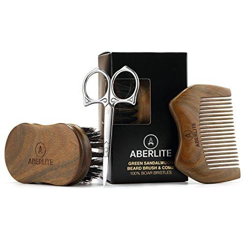 Aberlite Beard Straightening Brush Kit for Men -...