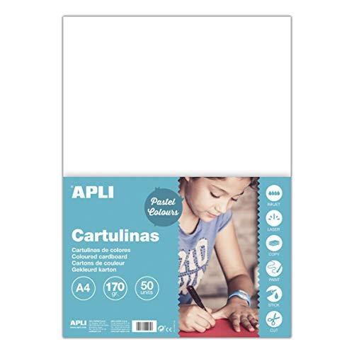 APLI Cartulinas Colores, pack de 50 cartulinas