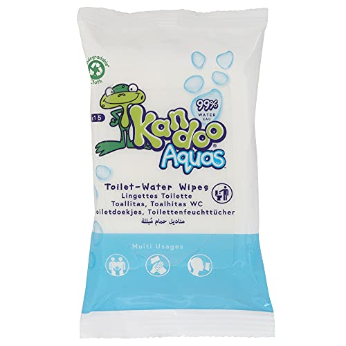 Kandoo 0514400025 - Kandoo Toallitas Aquas Pack 12 x 15 Unidades