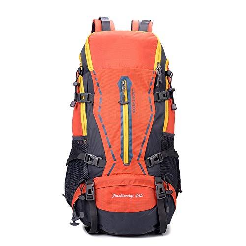 Sac à Dos de randonnée résistant et léger pour la Marche, Les déchirures et Les déplacements dans l'eau, la randonnée et Le Camping FENGMING (Couleur : Orange, Taille : 45L)