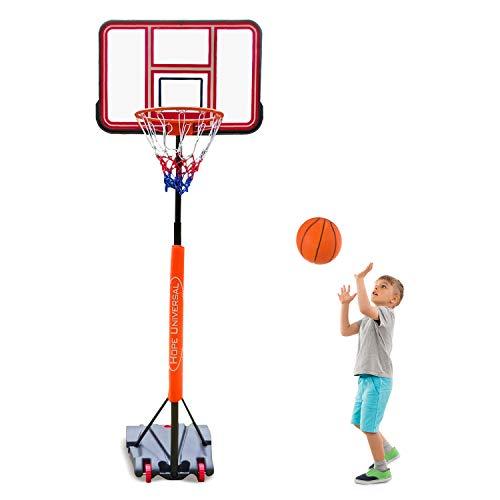 GreenGee PVC Portable Basketball Hoop Mini Basketball Hoop System for Kids Height Adjustable(5.08-8.4 ft) Basketball Hoop Indoor Outdoor Basketball Hoop System(US Stock