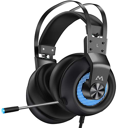Mpow Gaming Headset for PS4 PC Xbox One PS5 Controller,...
