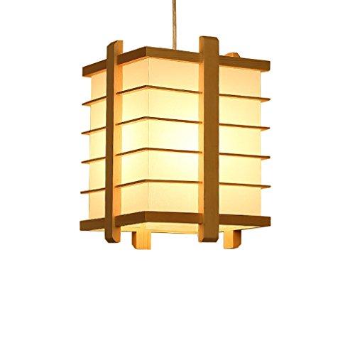 PIGE legno semplice Lampadario in stile coreano giapponese ristorante dell'hotel lampadari lampadari in legno personalità (Valutazione di efficienza energetica A +)