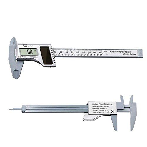 Carbon Fiber Nonius 0 150mm Digital Solar Power Messschieber Messwerkzeug