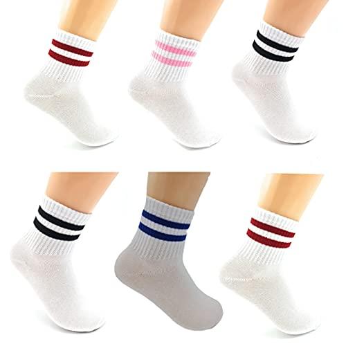Hu Socks 6 Pares de Calcetines deporte hombre, Calcetines mujer Unisex, Calcetines para enseñar. Talla 35- 40 (A)
