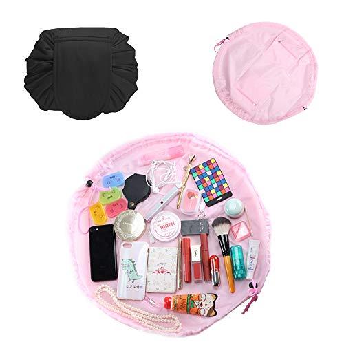 ETSAMOR 2pcs Lazy Bolsa de Maquillaje con Cordón de Viaje Gran Capacidad...