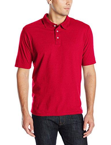 Hanes mens X-Temp Performance Polo Shirt,Deep Red,X-Large