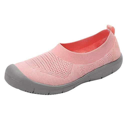 NMERWT Damen Sneakers Wanderschuhe Outdoor Schuhe Freizeit Frauen Slip-On Pumps Fashion Sneakers Casual Atmungsaktiv Mesh Flexible Socken Schuhe