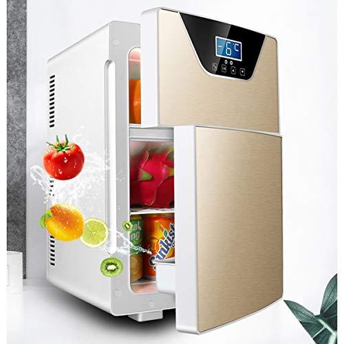 XER 20L auto dubbele deur mini-koelkast, mini-koelsysteem voor eenpersoonsstudentenhuis voor studenten en dual gebruik