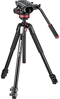 Manfrotto MVK502055XPRO3 Photo Video Hybrid Kit with 502 Series Head, Black