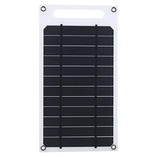 Nicoone Panel Solar Panel de Carga de Panel Solar Ultrafino Cargador de Batería de Teléfono Móvil Portátil para Placa de Generación de Energía Al Aire Libre