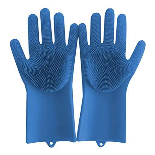 Coomir 1 paar magie siliconen reinigingsborstel scrubber handschoenen hittebestendige scrub